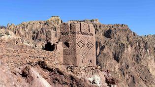 Les vestiges de Shahr-e Zuhak, ou Zuhak City, connue aussi comme la Cité Rouge, à Bamiyan, en Afghanistan (28 mars 2018) (DAI HE / XINHUA / MaxPPP)