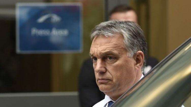 Le Premier ministre hongrois, Victor Orban, le 23 septembre 2015, à Bruxelles. (JOHN THYS / AFP)