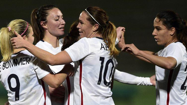 Eugénie Le Sommer a marqué le seul but de la rencontre  (FRANCK FIFE / AFP)