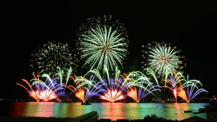 Le feu d'artifice proposé par les Philippins de Dragon Fireworks.  (Festival d'art pyrotechnique )