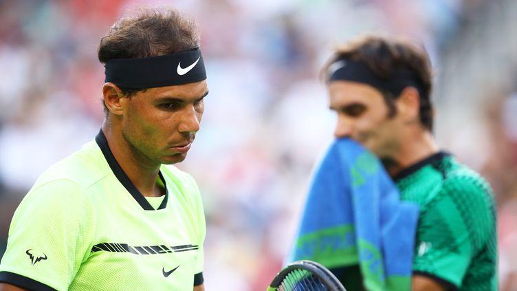 Rafael Nadal et Roger Federer (CLIVE BRUNSKILL / GETTY IMAGES NORTH AMERICA)