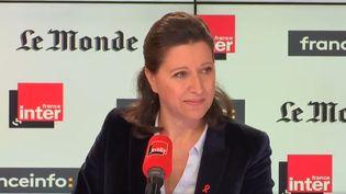 La ministre de la Santé Agnès Busyn, dimanche 25 mars sur France Inter et franceinfo Canal 27. (RADIO FRANCE)