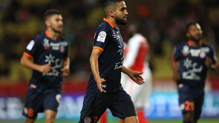 Ryad Boudebouz, meilleur buteur du MHSC en Ligue 1 cette saison (VALERY HACHE / AFP)