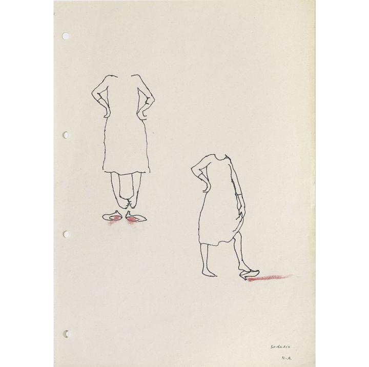 "Helena Almeida, Etudes pour le série ""Seduzir"" (séduire), 2002,  (Collection Helga de Alvear, Madrid / Caceres)"