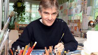 """Emmanuel Lepage, l'auteur des """"Voyages d'Ulysse"""" en septembre 2013  (DAMIEN MEYER / AFP)"""