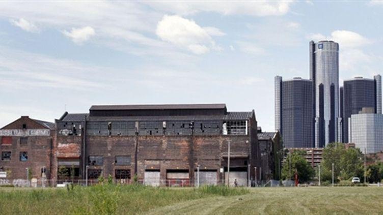 A Detroit, le siège de General Motors (sur la droite) (AFP/BILL PUGLIANO)