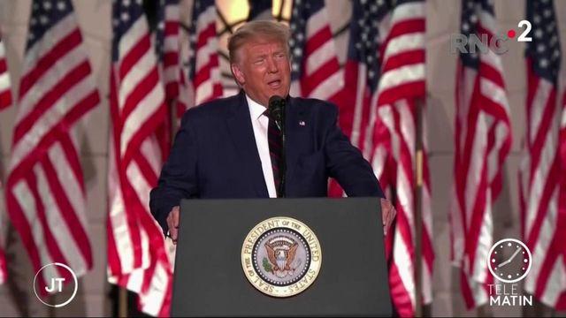Présidentielle américaine: officiellement nommé, Donald Trump fustige Joe Biden
