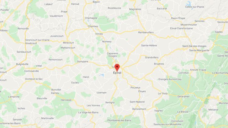 Epinal, dans les Vosges. (GOOGLE MAPS)
