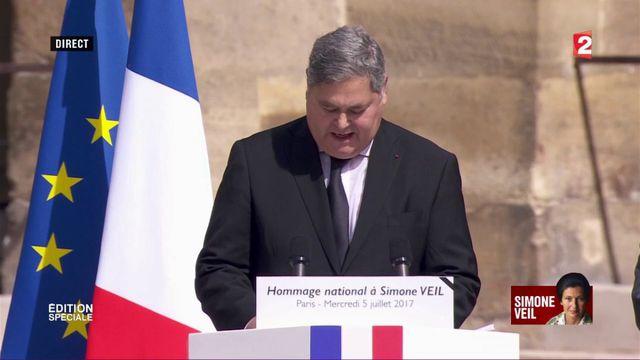 VIDEO. Le discours d'hommage de Pierre-François Veil à sa mère SImone