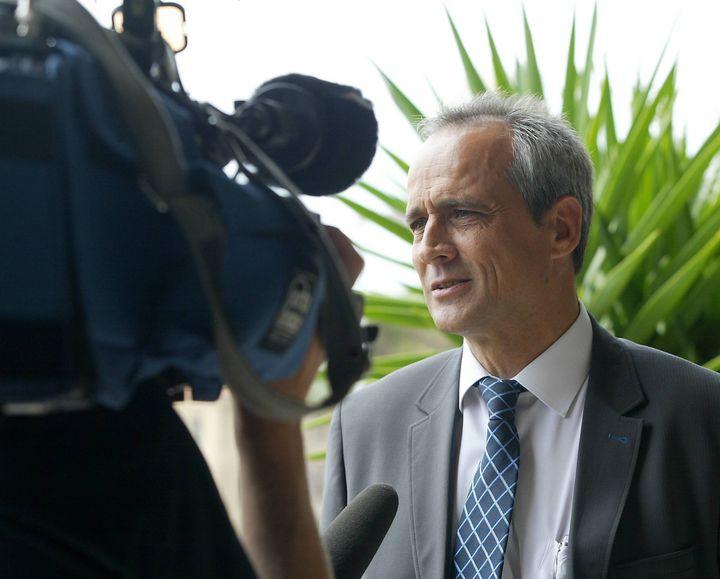 La maire du Cannet-des-Maures, Jean-Luc Longour, le 15 décembre 2008. (MAXPPP)