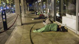 Des sans-abri à Paris, dans le 4e arrondissement, le 25 janvier 2016. (JEREMIE JUNG / MAXPPP)