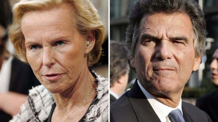Christine Ockrent et Alain de Pouzilhac (AFP / Thomas Coex / Jean Ayissi)