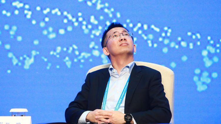 Le cofondateur de ByteDance, Zhang Yiming, participe à un sommet sur internet à Jiaxing (Chine), le 17 novembre 2016. (MAXPPP)