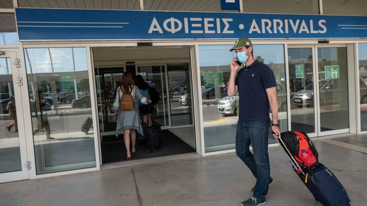 L'aéroport international deChania, en Grèce, le 27 juin 2021. (NICOLAS ECONOMOU / NURPHOTO / AFP)