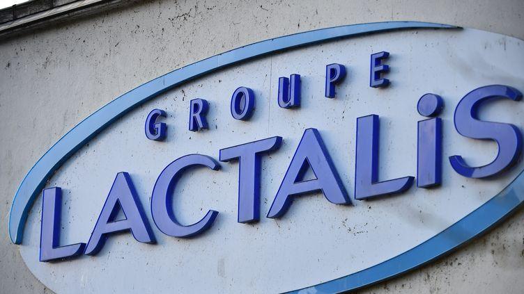 Le logo de l'entreprise Lactalis, au siège de l'entreprise, à Laval (Mayenne), le 17 janvier 2018. (JEAN-FRANCOIS MONIER / AFP)