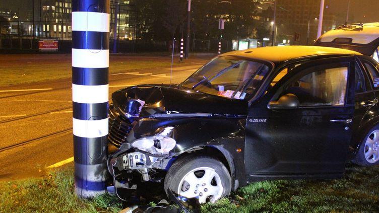 Le véhicule accidenté dans lequel Sergio Agüero s'est blessé