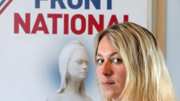 L'ancienne candidate FN Anne-Sophie Leclere à Rethel (Ardennes), le 16 juillet 2014. (FRANCOIS NASCIMBENI / AFP)