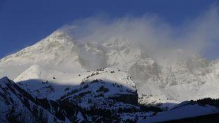 Le massif montagneux du Mercantour, vu depuis Entraunes (Alpes-Maritimes), le2 mars 2018. (MAXPPP)