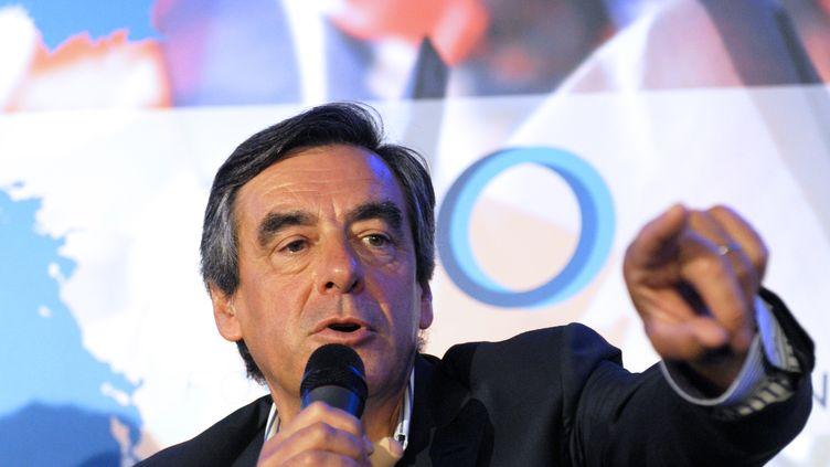 François Fillon, député de Paris, lors d'un meeting à Rouez-en-Champagne (Sarthe), le 27 août 2014. (JEAN-FRANCOIS MONIER / AFP)