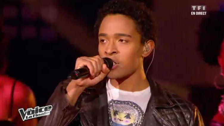 """Capture d'écran de la finale de l'émission """"The Voice"""", diffusée le 12 mai 2012 sur TF1. Stéphan Rizon est le grand gagnant. (FTVI / TF1)"""