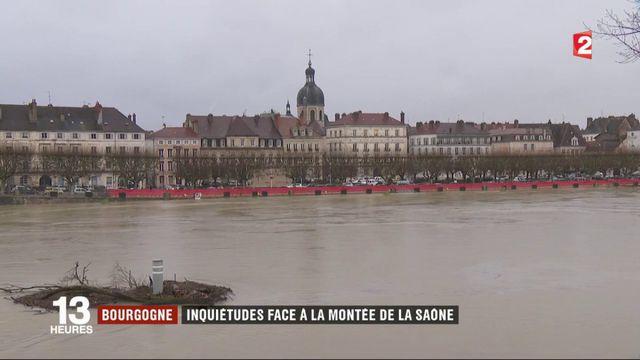 Inondations en Saône-et-Loire : inquiétudes face à la montée des eaux