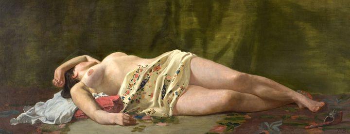 """Frédéric Bazille, """"Etude de nu"""", 1864, Musée Fabre, Montpellier Méditerranée Métropole, don Marc Bazille, 1918  (Cliché Frédéric Jaulmes)"""