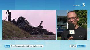 Un hélicoptère de la sécurité civile s'est crashé en Isère, le dimanche 12 septembre. Une personne est décédée dans l'accident. Explications. (FRANCE 3)