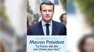 Emmanuel Macron a dévoilé, le 4 avril 2017, sa nouvelle affiche de campagne pour l'élection présidentielle. (EN MARCHE)