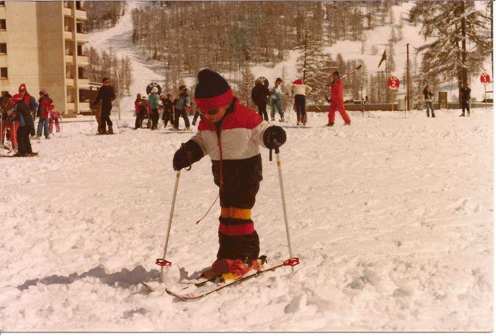 Romain Attanasio, enfant sur les skis, l'une de ses autres passions (PICASA)