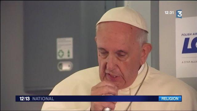 JMJ : le pape refuse les amalgames