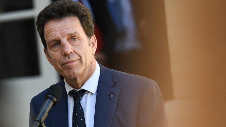 Geoffroy Roux de Bézieux, le 9 juillet 2020 à Matignon. (ANNE-CHRISTINE POUJOULAT / AFP)