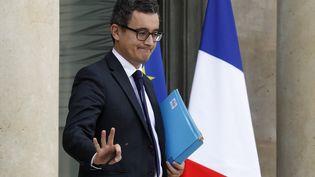 Le ministre de l'Action et des Comptes publics, Gérald Darmanin, le 4 octobre 2017, à la sortie du Conseil des ministres, à l'Elysée à Paris. (FRANCOIS GUILLOT / AFP)