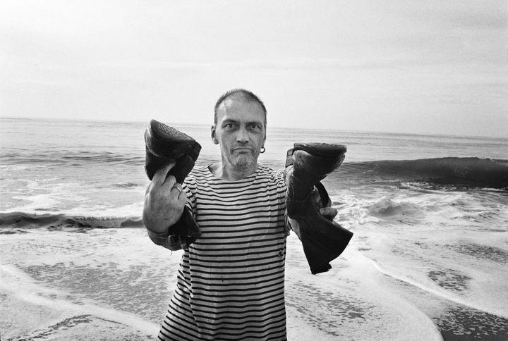 Daniel Darc, sur une plage de l'île de Ré en 2011.  (Julien Lachaussée)