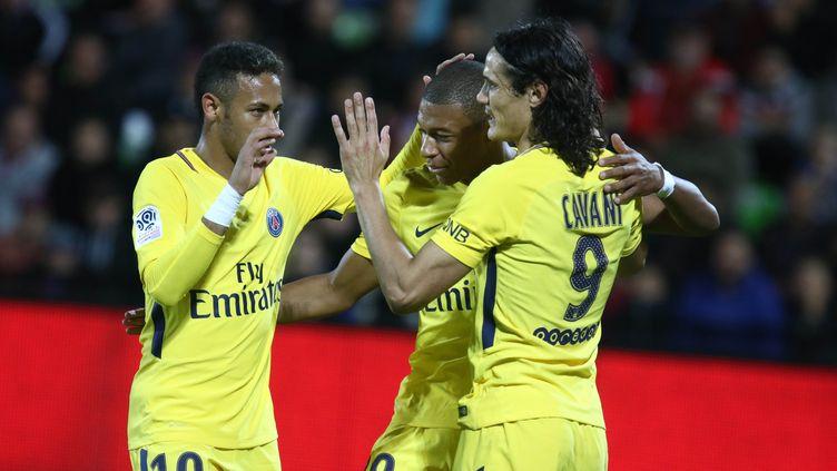 Neymar, Kylian Mbappe et Edinson Cavani (ELYXANDRO CEGARRA / NURPHOTO)