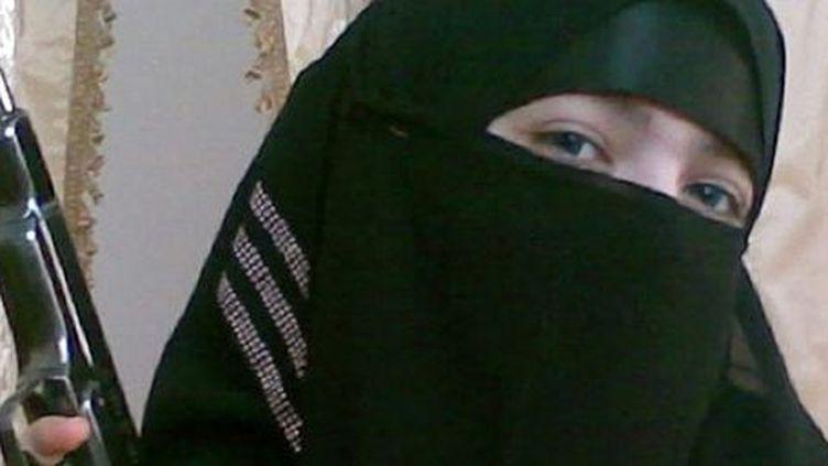 Djennet Abdourakhmanova, veuve de 17 ans qui a commis un attentat suicide dans le métro de Moscou, le 29 mars 2010. ( AFP PHOTO / NEWSTEAM / HO)
