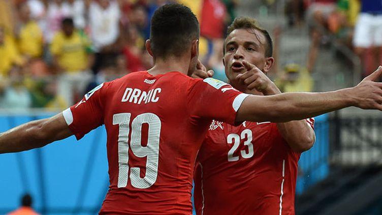 L'ailier suisse Xherdan Shaqiri a ouvert le score pour la Suisse