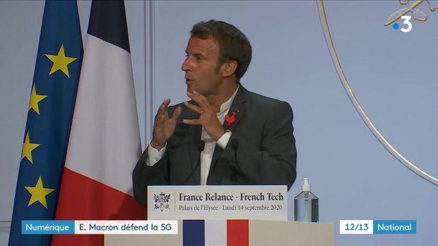 Numérique : Macron défend la 5G face aux détracteurs