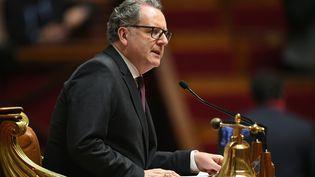 Le président de l'Assemblée nationale, Richard Ferrand, le 23 janvier 2019 à Paris. (ERIC FEFERBERG / AFP)
