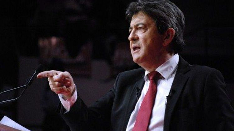 Jean-Luc Mélenchon tient meeting à Besançon, le 24 janvier 2012. (AFP - Citizenside.com)