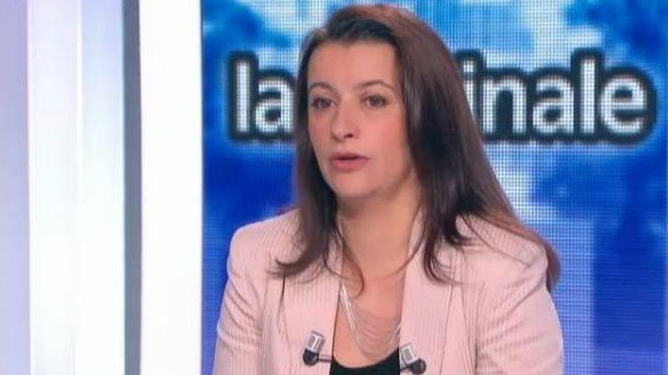 Cécile Duflot, secrétaire nationale d'Europe Ecologie Les Verts (EELV), le 16 novembre 2011 sur Canal+. (FTVi / CANAL+)