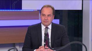 """Jean-Christophe Lagarde, le président de l'UDI était l'invité du """"8h30 franceinfo"""", jeudi 3 décembre 2020. (FRANCEINFO / RADIOFRANCE)"""