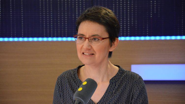 Nathalie Arthaud. (RADIO FRANCE / JEAN-CHRISTOPHE BOURDILLAT)
