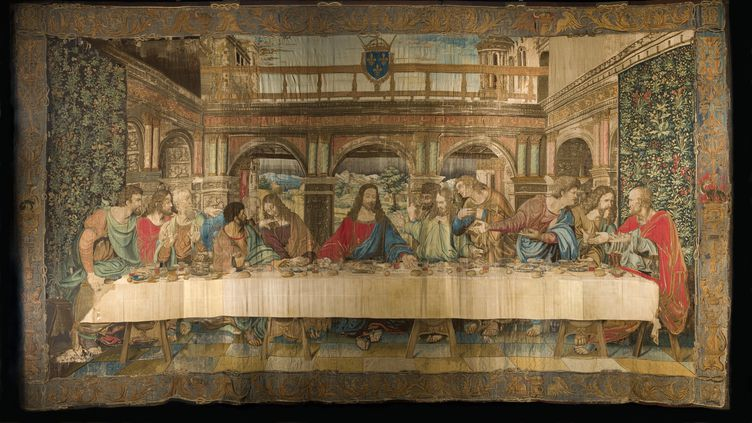 La tapisserie de la Cène, par Léonard de Vinci (MUSEI VATICANI - GOVERNATORATO SCV)