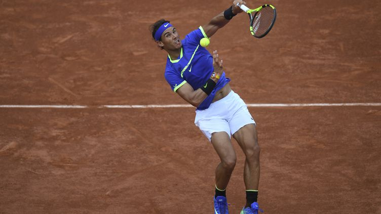 L'Espagnol Rafael Nadal le 11 juin 2017 à Roland-Garros. (GABRIEL BOUYS / AFP)