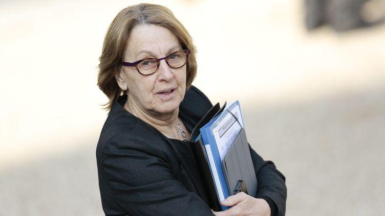 La ministre de la Fonction publique, Marylise Lebranchu, le 20 février 2013 à l'Elysée (Paris). (MAXPPP )