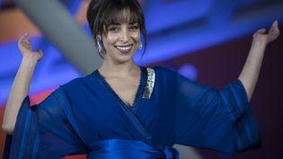 La comédienne marocaine Nisrin Erradi à la 18e édition du Festival international du film de Marrakech le 3 décembre 2019. (FADEL SENNA / AFP)