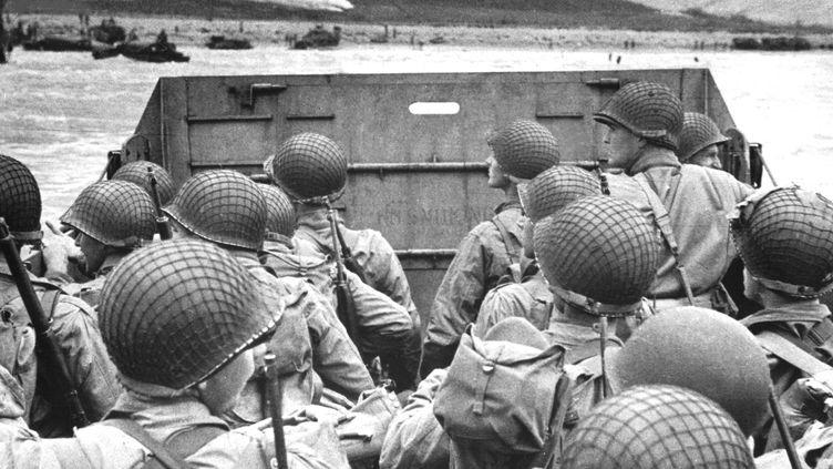 Les troupes américaines débarquent le 6 juin 1944 à Omaha Beach. (COLL-DITE / AFP)