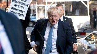 Boris Johnson, le 23 juillet, à Londres. (NIKLAS HALLE'N / AFP)