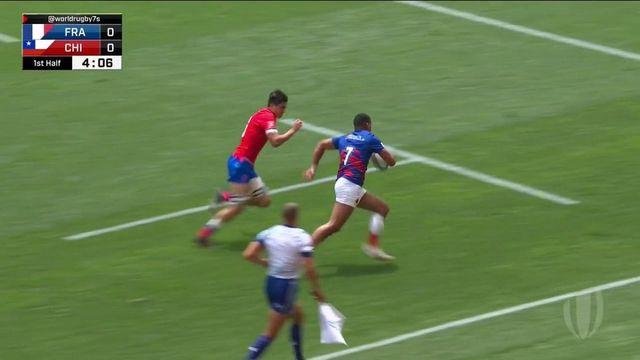 TQO rugby à 7 : les meilleurs moments du match France - Chili