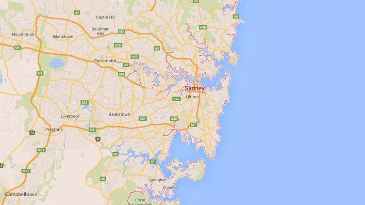 Cinq personnes suspectées d'avoir fomenté un acte terroriste ont été interpellées jeudi 10décembre à Sydney (Australie). (GOOGLE MAPS / FRANCETV INFO)